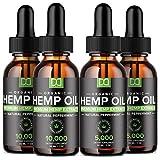 (4 Pack) Hemp Oil 5000mg + Hemp Oil 10000mg