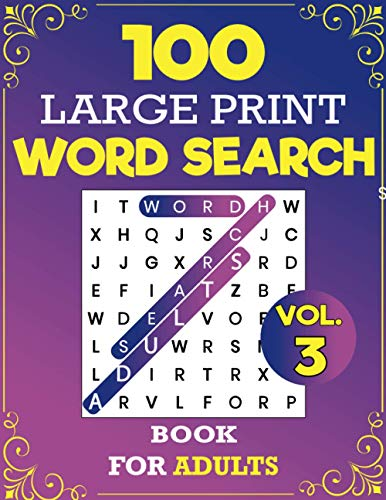 100 Large Print Word Search Book For Adults: Everyday Mindfulness Word...