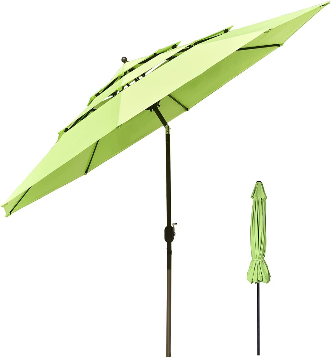 Umbrellas 3 Tiers Round Deluxe Cantilever Patio Hanging Offset Las Vegas Mall Cheap sale P