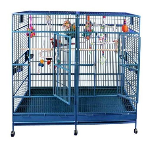 80'x40' Double Macaw Cage in Stainless Steel...