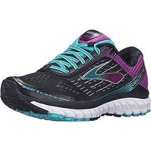 Brooks Women's Ghost 9 Black/Sparkling Grape/Ceramic Running shoes - 6.5 B(M) US