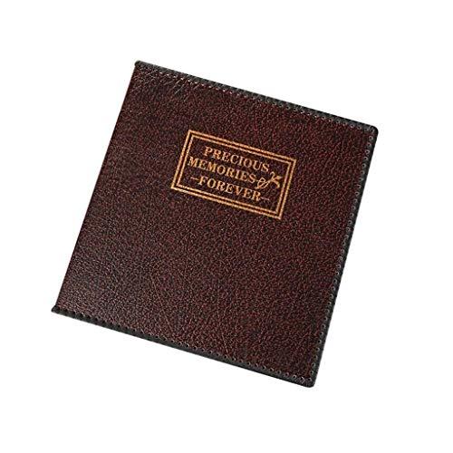 ASDWA Álbum de Fotos de Cuero para Bricolaje, álbum de Boda Familiar, marrón Negro para Foto de 1 a 12 Pulgadas, 35 x 34,5 x 5 cm