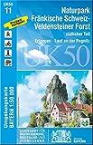 UK50-11 Naturpark Fränkische Schweiz-Veldensteiner Forst, südl.Teil: Erlangen, Lauf an der Pegnitz, Veldenstein, Hersbruck, Ebermannstadt, ... Karte Freizeitkarte Wanderkarte)