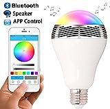 Bombilla de LED Inteligente con Bluetooth 4.0 Altavoz, Novatech Playbulb de Música LED E27 Bombilla de luz LED RGB Regulable para Decoración Lluminación Aplicación Gratuita para iOS Android Smartphone