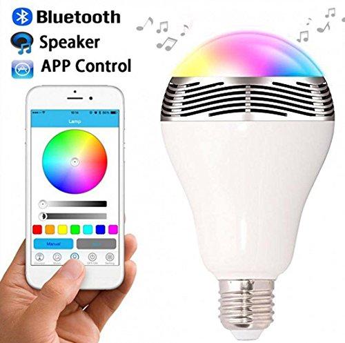 Novatech LED-lampen, bluetooth, draadloos, smart met luidspreker, 7 kleuren, ondersteunt Apple Android App besturing