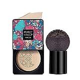 BB Cream Líquida Fundación Mushroom Head Air Cushion Ocultador Base de Maquillaje de Larga Duración Hidratante Corrector Permeable Al Aire Brillo Natural (Luz blanca)