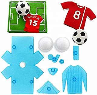 9 PCS/Lot Football Shirt Soccer Theme Fondant Cake Moulds Plastic Chocolate Cookie Cutter Candy Biscuit Decorating Tools