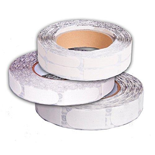 Ebonite Ultra Grip Tape weiß strukturiert 100 Stück Rolle (schwarz, 2,5 cm)