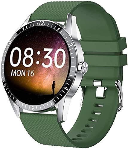 Rastreador de fitness 1.3 pulgadas pantalla táctil completa reloj inteligente con podómetro bluetooth SMS recordatorio reloj de los deportes-verde