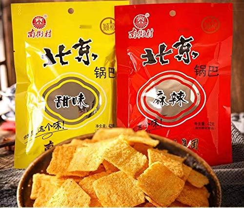 YGWALL Galletas de arroz de Beijing, picantes y Dulces, bocadillos instantáneos, Alimentos listos para Comer
