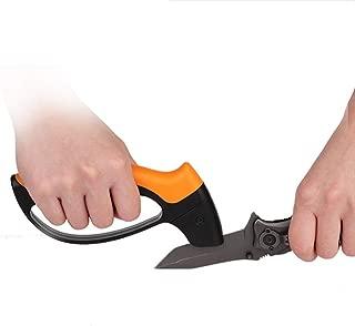 DUDDP knife sharpener Knife Sharpener, Pocket Knife Sharpener Multi-Purpose for Camping Knife and Serrated Blade Knives/Axe, Easy to Handle, Ergonomic Shape, Long Life, Outdoor Fast Knife Sharpener,Bl