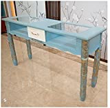 ACYY Manicure Nail Table Retro Nail Table Net Red Simple Hornear Pintura Individual Double Triple Nail Table Y Silla Set (Color : Multi)