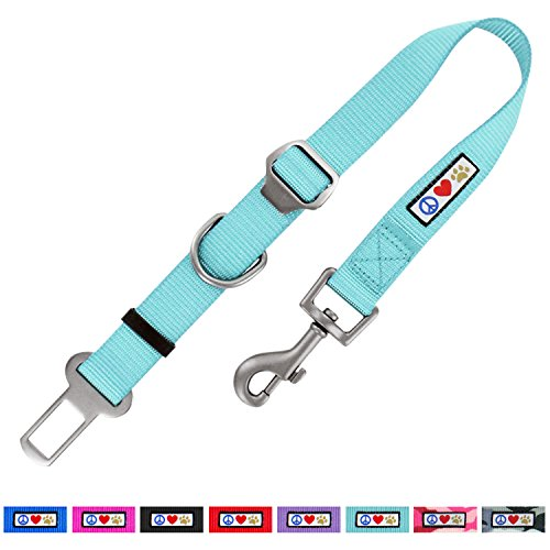 PAWTITAS Individuell Verstellbarer Hunde-Sicherheitsgurt und -Rückhalteeinrichtung für Haustier-Transportvorrichtungen, Türkise Farbe