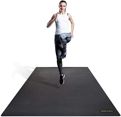 Miramat® - Extra Large Premium Exercise Mat (200 x 120 cm; 7mm Thick) - Durable Non-Slip Workout Mats for Home Gym, C...