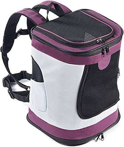 ESSEASON 123Padded Fabric Pet Dog Puppy Cat Backpack Rucksack Carrier Bag,purple