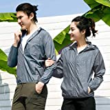 At27clekca Air-Conditioned Clothes Lightweight Fan Jacket Summer Outdoor Resistant Cooling Anti-Sun Waterproof Fan Jacket XXXXXL Grey