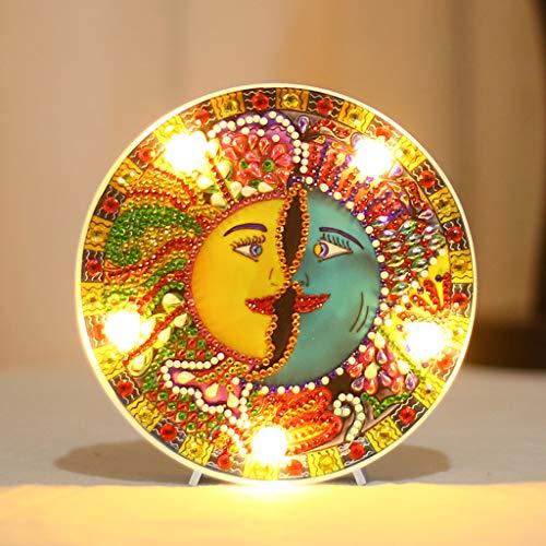 DIY-Mandala-Bohrer, Durchmesser der Bohrung mit Nachtlicht und Lamellen-Bastelset