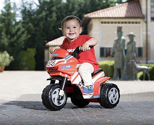 MOTO BAMBINO MINI DUCATI PEG PEREGO BATTERIA RICARICABILE 6V IGMD0005