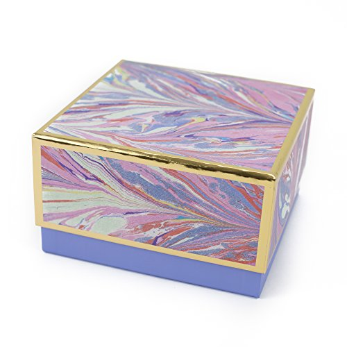 "Hallmark Signature 7"" Medium Gift Box (Marble, Pink, Lavender, Gold) for Mothers Day, Valentines Day, Birthdays, Bridal Showers, Bridesmaids Gifts and More"
