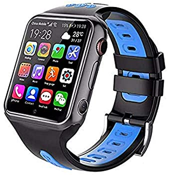 SUNTON New 4G Universal Kids Smart Watch Phone with GPS Tracker Combines Video Voice and Wi-Fi Calling Messaging Camera IP67 Water Resistant & SOS  Blue