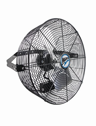 Maxx Air Wall Mount Fan, Commercial Grade for Patio, Garage, Shop, Easy Operation and Powerful CFM (18' Industrial Wall Mount)