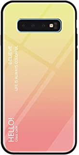 Gradient Glass Back Case Compatible Compatible Samsung Galaxy S10/S10 Plus{6.1/6.4inch} Slim,Guesthome Glass Back + Explosion Proof TPU Soft Side Design Protect Your Phone,2019 Newest