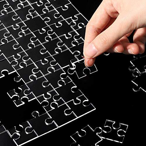 WATINC 120Pcs Transparent Kinderpuzzle 10,6