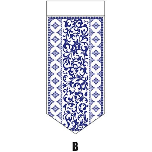 YHviking Japanische Vorhang,Dekorative Tapeten,Tür-raumteiler Tuch Halber Vorhang,Einfach Zu Waschen Verhindern, DASS Sonnenlicht Für Wohnzimmer Restaurant Wohnung-B 42x93cm(17x37inch)