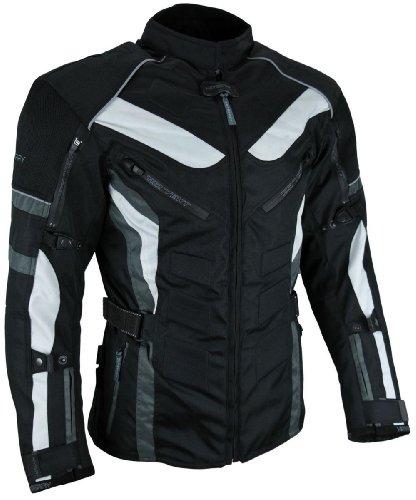 Heyberry Touren Motorrad Jacke Motorradjacke Textil schwarz grau Gr.L - 3
