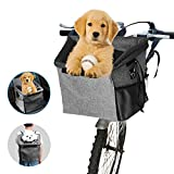 Arkmiido Bicycle Pet Carrier Basket Bag Dog Bike Front Carrier Portable...