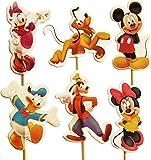 Mickey & Amis petit gâteau Pics Toppers (Paquet de 24)