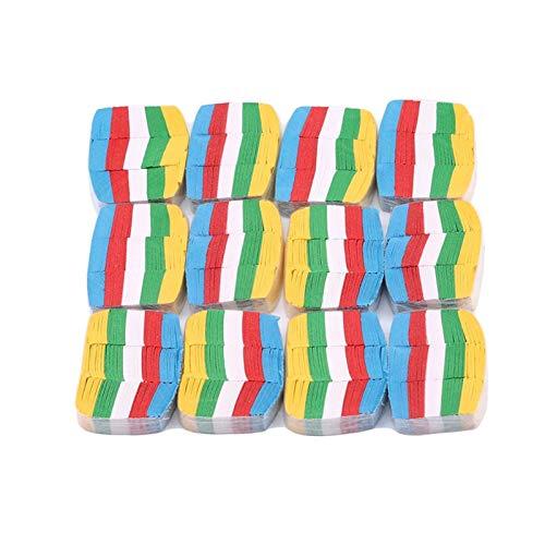 CCAN 12PCS / Set Bunte magische Tricks White Snow Papier Magier Bühnenbedarf Kleine Schneeflocken Papier Schneesturm Papier Requisiten Spielzeug (Farbe : Multicolor)
