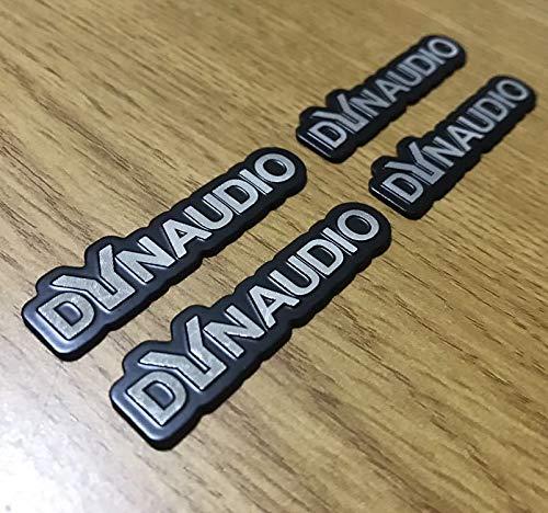 4枚セット DYNDUDIO ディナウディオ エンブレム アンプ ウーハー スピーカー ツィーター等に 加工 ワンオフ アルミ ステッカー