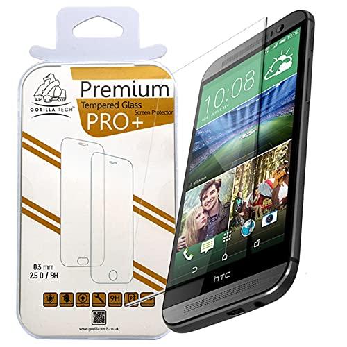 Gorilla Tech Protector de pantalla de cristal templado premium para HTC One...