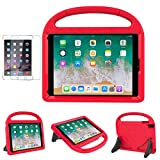 iPad 9.7' 2018(Gen 6) / 2017(Gen 5) Case for Kids - SUPLIK Durable Shockproof Protective Handle Bumper Stand Cover with Screen Protector for 9.7 inch iPad Latest Model,Air 1/2,Pro 9.7, Red