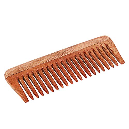 Svatv Handcrafted neem Wood Comb n-48(15,2cm 5,1cm)