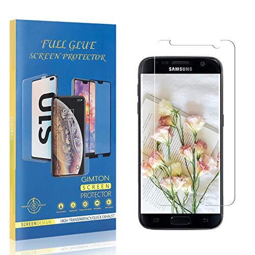 GIMTON Dureté 9H Verre Trempé pour Galaxy S7, sans Bulle, sans Poussière, Ultra Résistant Protection en Verre Trempé Écran pour Samsung Galaxy S7, 4 Pièces
