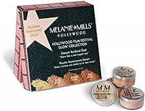 Melanie Mills Hollywood Film Festival Glow Collection Bronzing Powder - Gleam Radiant Dust Set, Light Gold, Rose Gold, Bronze Gold, and Deep Gold Mini 1.5g