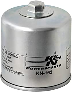 K&N Motorcycle Oil Filter: High Performance Black Oil Filter with 17mm nut designed to be used with synthetic or conventional oils fits BMW R nine T, K1600, R1200 Motorcycles KN-164
