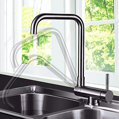 Gyps Faucet wastafelmengkraan met één hendel wastafelarmatuur koud water kraan 304 roestvrij staal inklapbare ideeën wastafel armaturen gedraaid kunnen worden, mengkraan wastafel