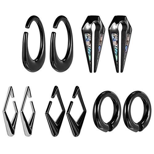 KUBOOZ Ohr Gewicht schwarze Stecker und Tunnel Piercing Messgeräte Ohrringe Aufhänger 2g schwere Bahren 1 Paar Geschenk Schmuck