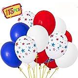 115PCS Patriotic Decorations Star Latex...