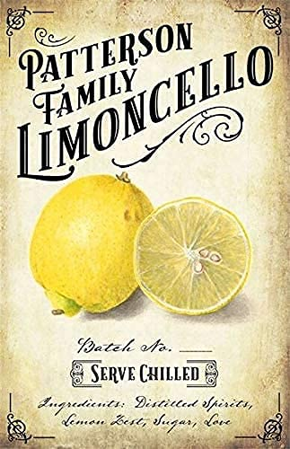 Oddss Retro Funny Limoncello Cartel de chapa de metal,Suitable for Home Bar Hotel Office Cafe Wall Decor Poster Gifts for Women Men Friends 8x12 Inch