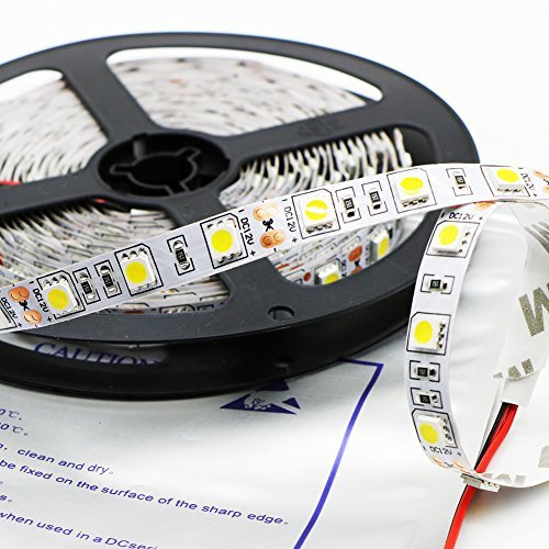 Kebinfen® 16.4ft(5m) SMD 5050 Natürlich Weißes Flexible LED Streifen Lichter 4000K Nicht wasserfest 300LEDs / Rolle LED Licht Streifen Multifunktions LED Band Licht