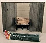 Woodfield Hanging Curtain Fireplace Spark Screen (Rod Not Included) - 48 x 21 in