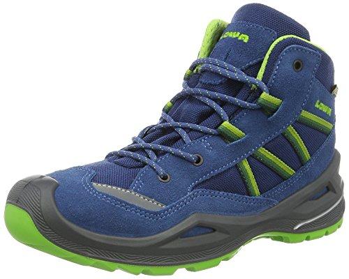 Lowa Unisex-Kinder Simon II GTX QC Trekking- & Wanderstiefel, Blau (Blau/Limone), 33 EU
