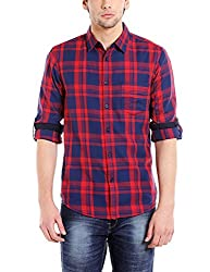 Dennis Lingo Mens Cotton Checkered Casual Shirt