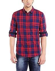 Dennis Lingo Mens Cotton Checkered Casual Shirt