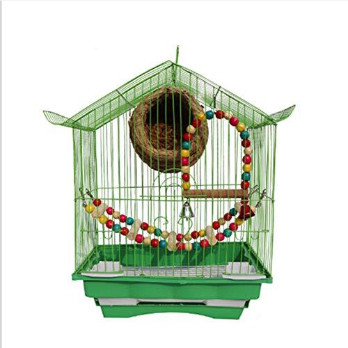 Jaulas para Pajaros Concurso Casas Independiente para bandejas y de Alimentos de Hierro Forjado para PáJaros Caja Nido Pajaros En Productos para Mascotas Jaula De ExhibicióN Soporte