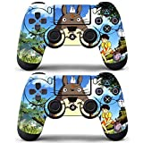Decal Moments 2 Pack Regular PS4 Controllers Skins Decals Stickers Covers Vinyl Totoro Blue